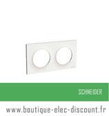 Plaque Blanc 2 postes H ou V réf S520704
