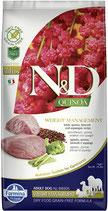N&D Hundefutter Gewichtskontrolle mit Lamm, Quinoa, Brokkoli & Spargel