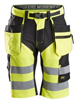 6933  FlexiWork, High-Vis Shorts+ Holstertaschen, Klasse 1