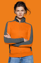 HAKRO 277 DAMEN-SWEATJACKE CONTRAST PERFORMANCE