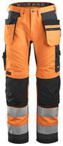 6243  AllroundWork, High-Vis Stretch Trousers Holster Pockets Class 2