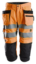 6134  LiteWork, High-Vis Piratenhose+ Holstertaschen, Klasse 2