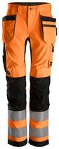 6730  AllroundWork, High-Vis Damen Arbeitshose mit Holstertaschen, Klasse 2