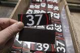 Магнитные стикеры для маркировки стеллажей.