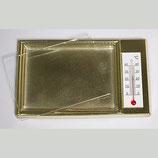 Золотая рамка на магните с термометром