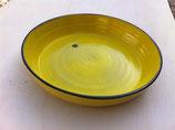 Plat à gratin en grès jaune