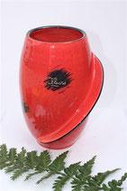 Vase haut rouge