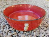 Plat à gratin en grès rouge + bas relief chat