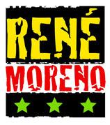 Aufkleber mit René Moreno Logo
