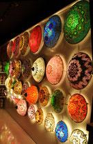 Decken-, Wandlampe (Glaskoppel)