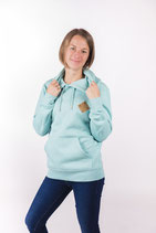 "UNISEX Hoody ""Snappy"" mid heather green"