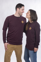 """UNISEX Sweater """"Snappy Guy"""" heather grape red"""