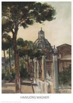 Rom - Kirche am Trajanum im Abendlicht - KUNSTPOSTER DIN A1