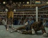 Schwergewichtskampf - Knock Out - FINE ART PRINT EDITION - 90 x 72 cm