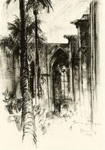 Barcelona - Innenhof der Kathedrale - FINE ART PRINT EDITION - 64 x 91,4 cm