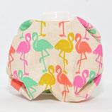 Flamingos gelb/orange/pink/türkis