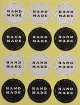 """Stickers """"hand made"""" schwarz/weiss"""