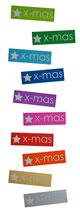 x-mas - Sticker (10 Stück)
