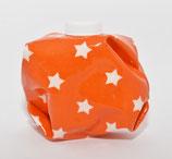 Sterne weiss auf orange