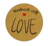 "Stickers ""handmade with love"""