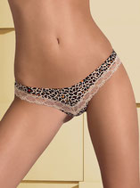 Jungirl String mit Animal-Print