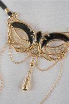 String Masque Venise Nuit d'Amour Or schwarz