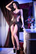 Body - mit Robe - CR4154 schwarz/rot