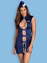 Stewardess-Kostüm blau