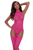 Body + Stockings DR11784 hot pink