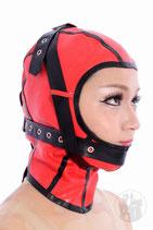 Latex Maske mit Schnallen und Schnürung