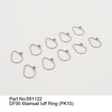 881122 Anelli per vele (pz 10) - Mainsail luff ring (pcs10)