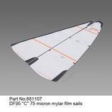 881107 Vela C 75 micron mylar - Sail C 75 micron mylar