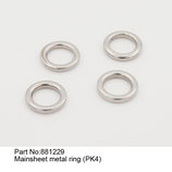 881229 Anelli trasto (4pz) - Mainsheet metal ring (4pcs)