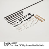 881101 Kit A completo (senza vele) - Kit A complete (no sails)