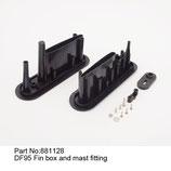 881128 Scassa deriva e supporto albero - Fin box & mast fitting