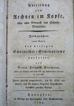Anleitung zum Rechnen im Kopfe 1795