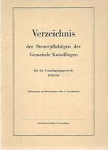 Verzeichnis der Steuerpflichtigen der Gemeinde Konolfingen 1959-60