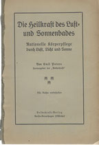 Die Heilkraft des Luft- und Sonnenbades 1913