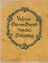 Unserem Otto von Greyerz zum 60. Geburtstag