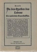 An den Quellen des Lebens die natürliche Sauerstoffkur 1918