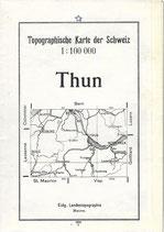 Thun Topographische Karte der Schweiz 1934