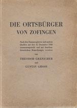 Die Ortsbürger von Zofingen 1930