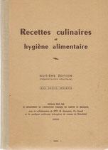 Recettes culinaires et hygiène alimentaire 1950