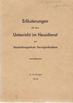 Unterricht im Hausdienst 1946