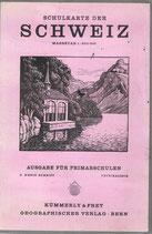Schulkarte der Schweiz 1950