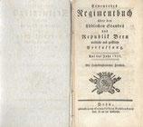 Erneuertes Regimentbuch Republik Bern 1821