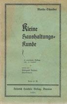 Kleine Haushaltungskunde 1931