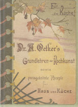 Dr. A. Oetkers Grundlehren der Kochkunst