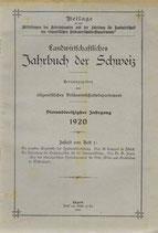 Landwirtschaftliches Jahrbuch der Schweiz 1920 (1)