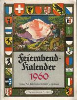 Feierabend Kalender 1960